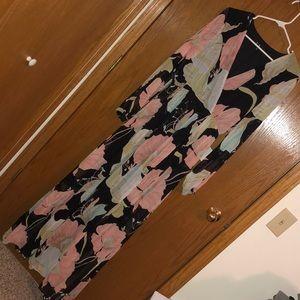 Lulus long sleeve floor length dress